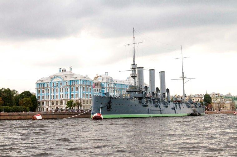 Cruiser Aurora. Saint Petersburg