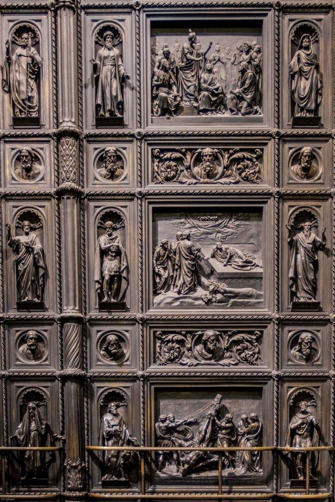 Door in Saint Isaac's Cathedral. Saint Petersburg.