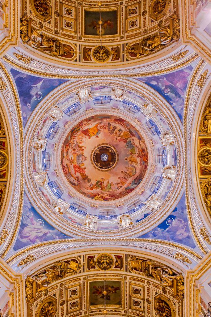 Ceilings in Saint Isaac's Cathedral. Saint Petersburg.